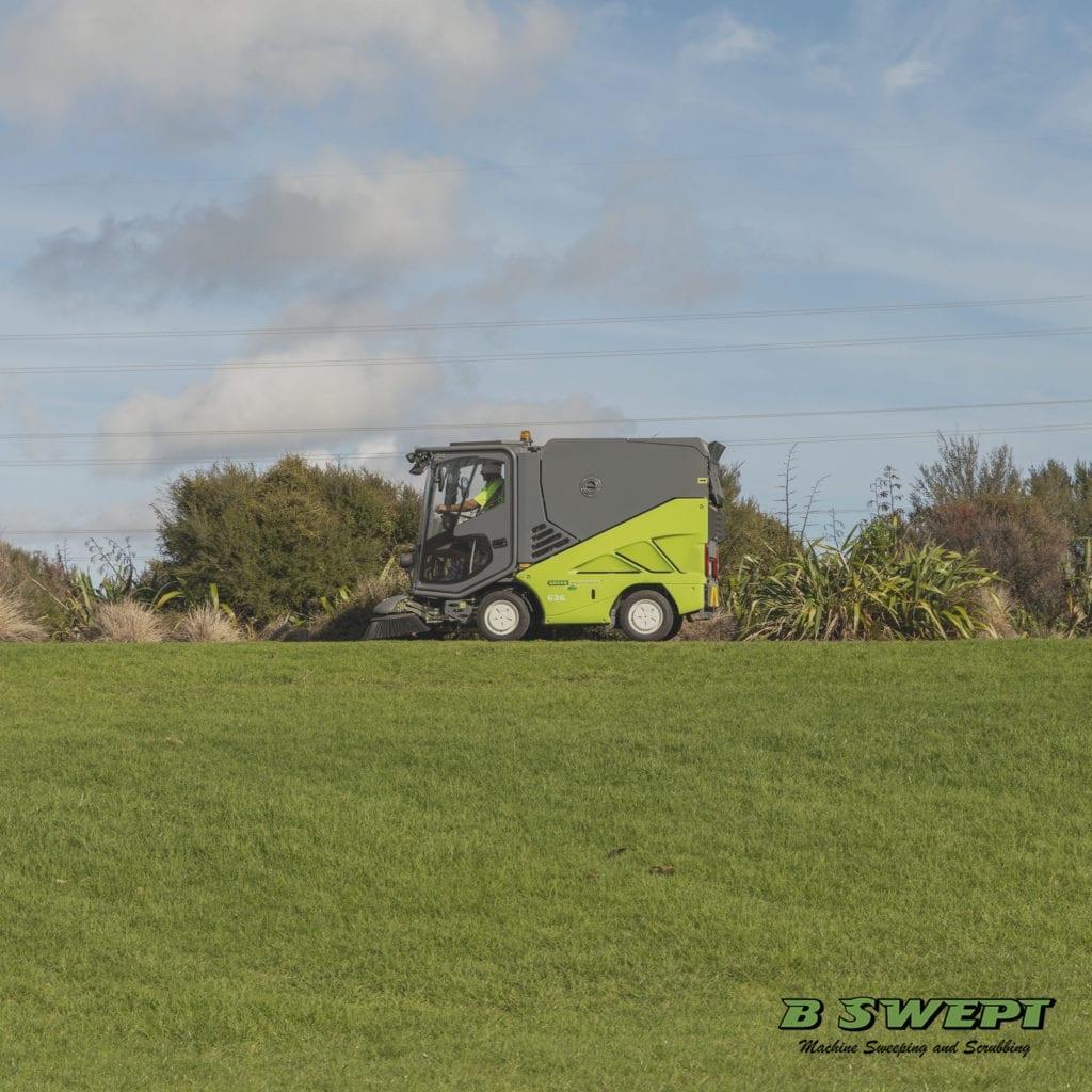 Green machine sweeping path