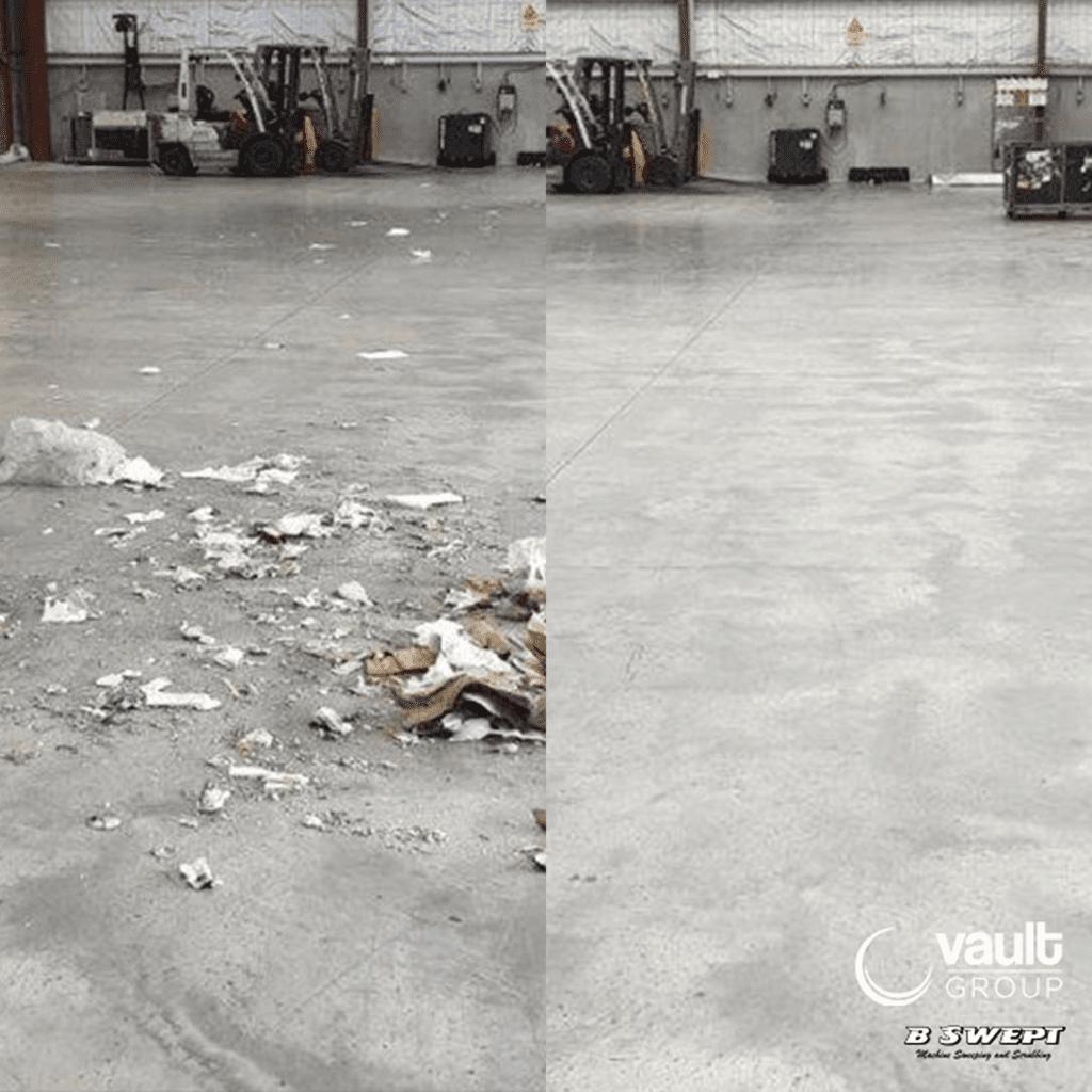 Facility floor sweeping